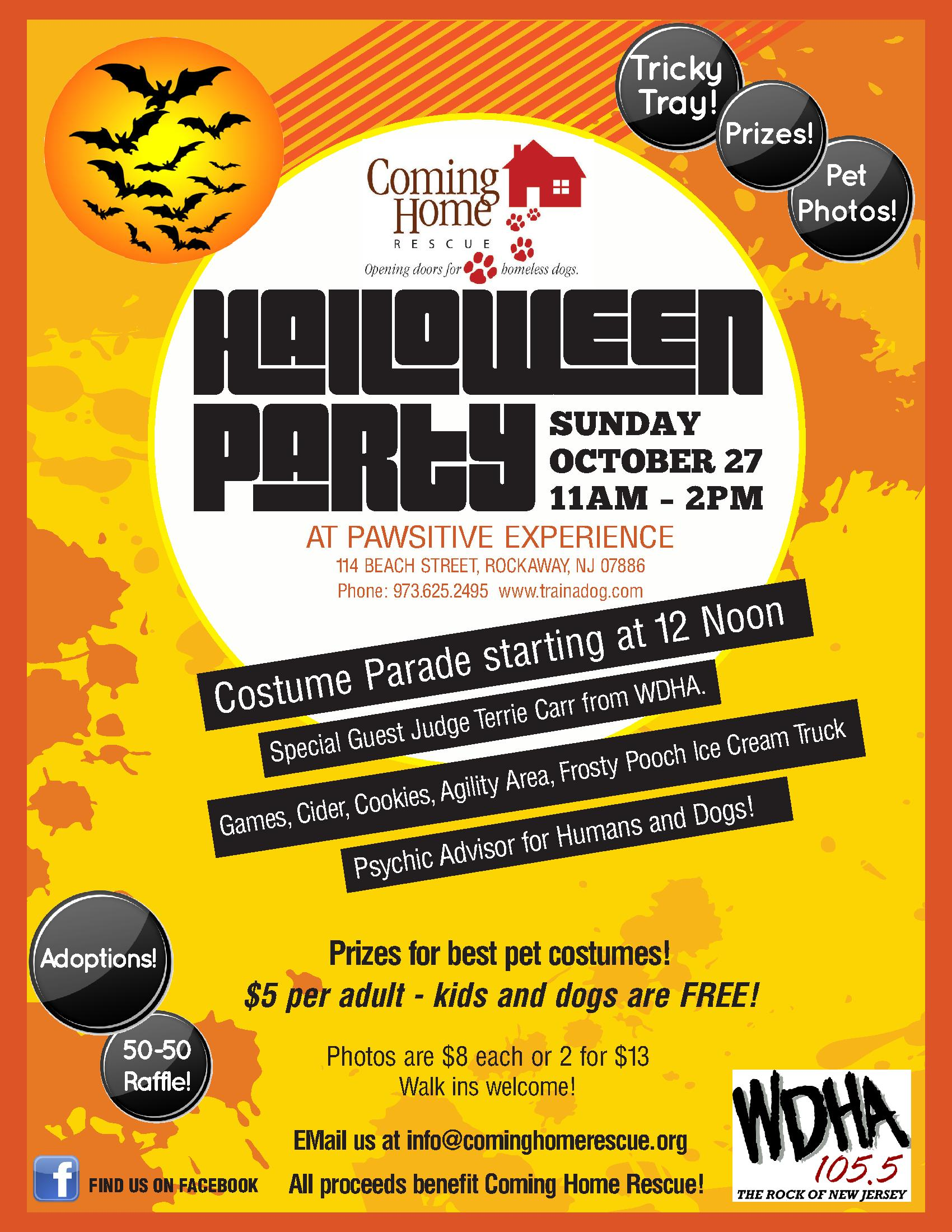 dog halloween party | cominghomerescue