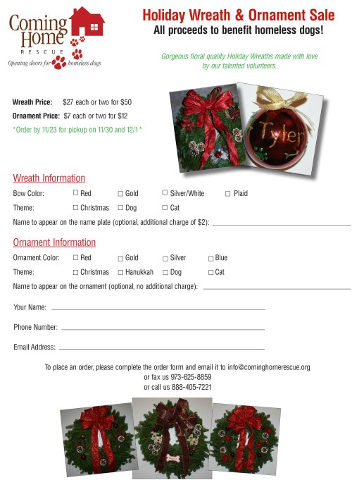 2013 Wreath Order Form