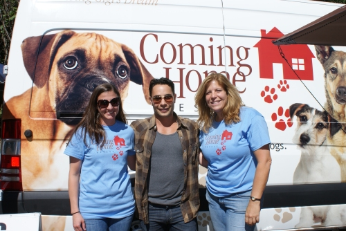"Sometimes we get to meet dog friendly celebrities at our adoption events like Justin Silver of the CBS show ""Dogs in the City."""