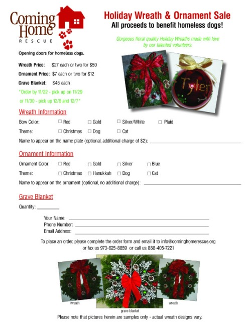 2014 wreath order form