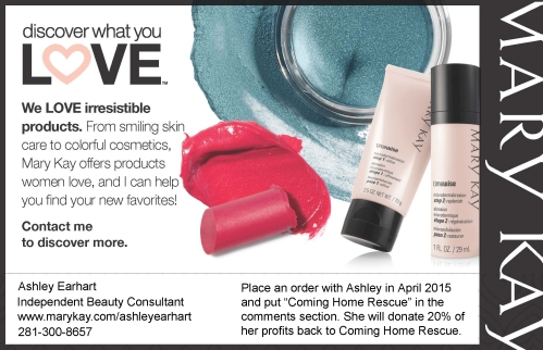 Ashley Earhart Mary Kay Ad for April newsletter
